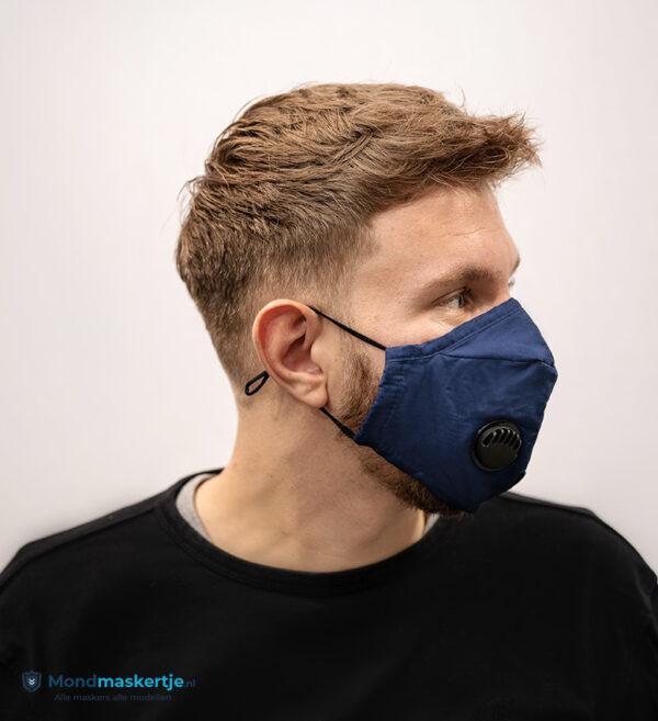 mondmasker katoen blauw filter ventiel (1)