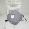 PM2.5 Mondmasker mondkapje kopen Grijs katoen herbruikbaar uitademventiel FFP 2 Filters