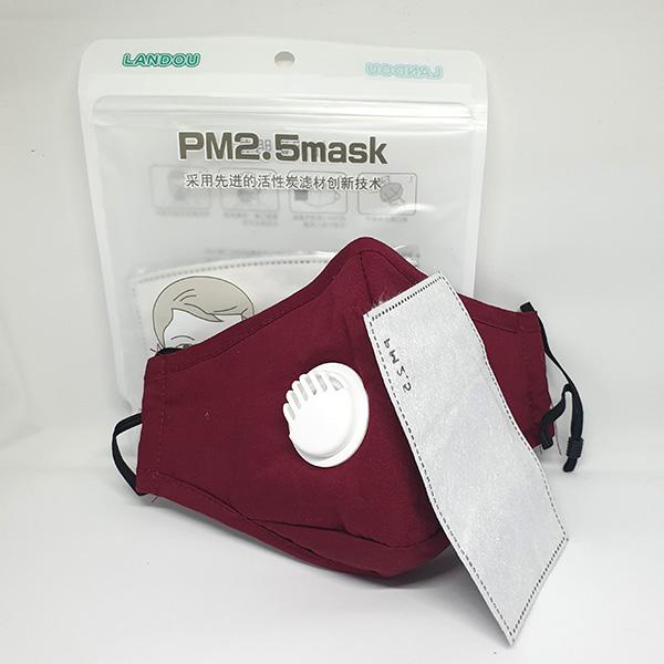 PM2.5 Mondmasker mondkapje kopen Rood katoen herbruikbaar uitademventiel FFP 2 Filters