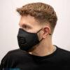 mondmasker zwart met ventiel mondmaskertje (2)