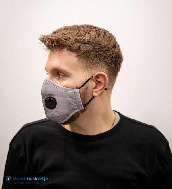 mondmaskertje grijs katoen filter ventiel (3)