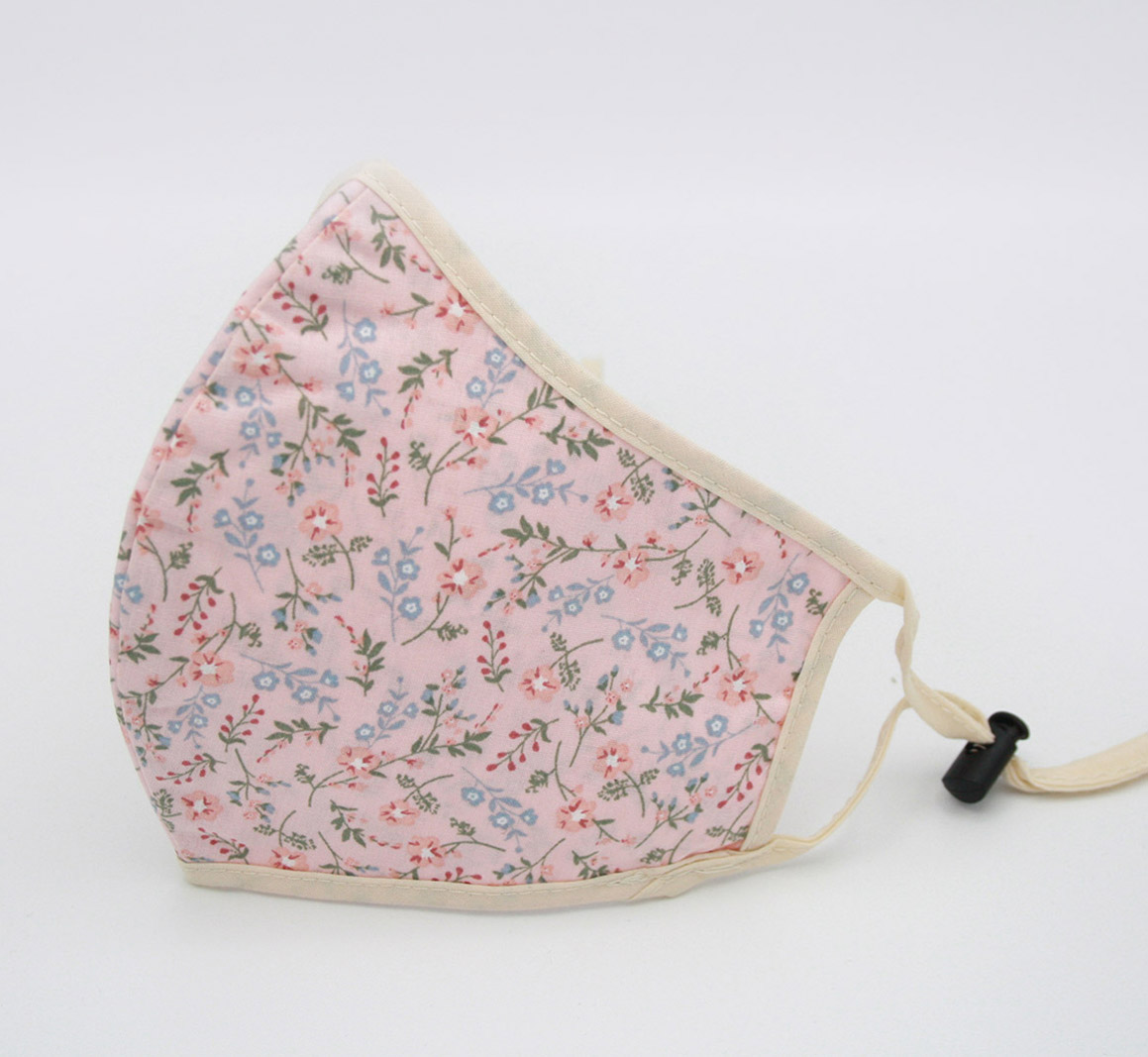 SOTO Mondmasker met Bloemenprint roze katoen (5)