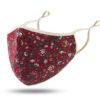katoenen mondmaskertje bloemen patroon rood