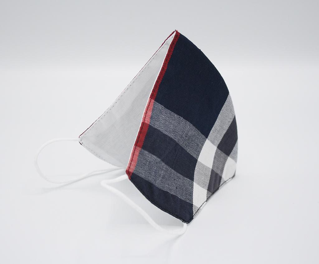 FASHION Mondmaskertje.nl wit blauw patroon stijvol mondmasker mondkapje (6)