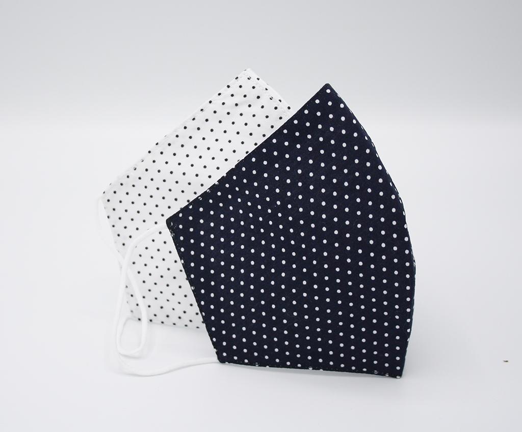 FASHION Mondmaskertje.nl wit blauw patroon stijvol mondmasker mondkapje (3)