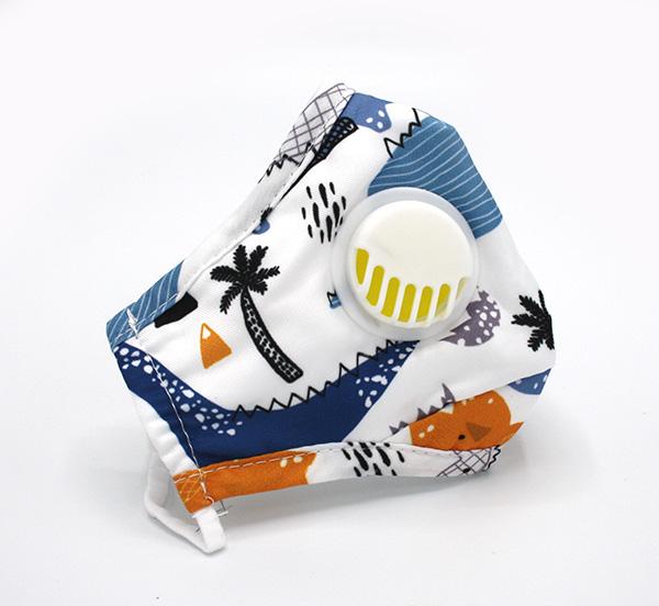 Mondmaskertje voor kinderen met ventiel en filter