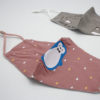 RUIYA Kindermasker van katoen pinguin roze (7)