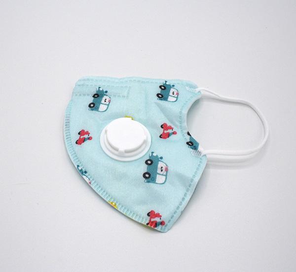 kinder mondmasker met uitademventiel