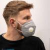 kn95 mondmasker grijs met ventiel (3)
