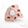 mondneusmasker voor kinderen met ventiel oranje