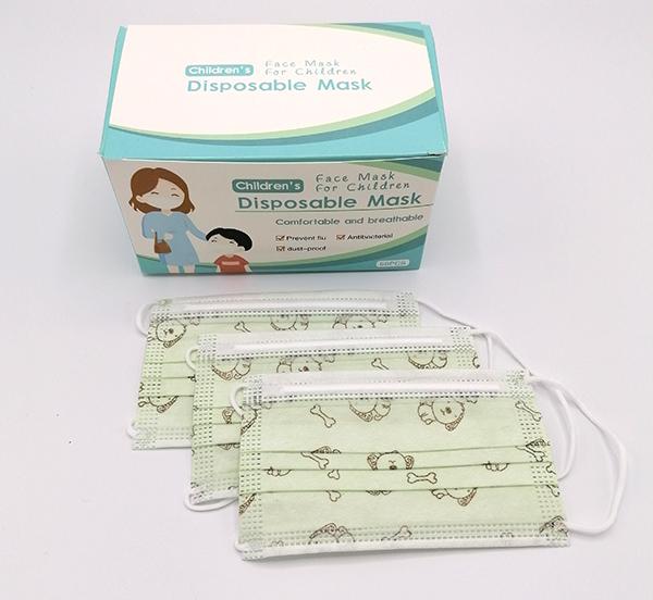 mondmasker kinderen groen wegwerpmasker (3)