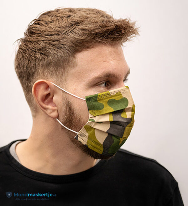 wegwerpmasker groen jungle army