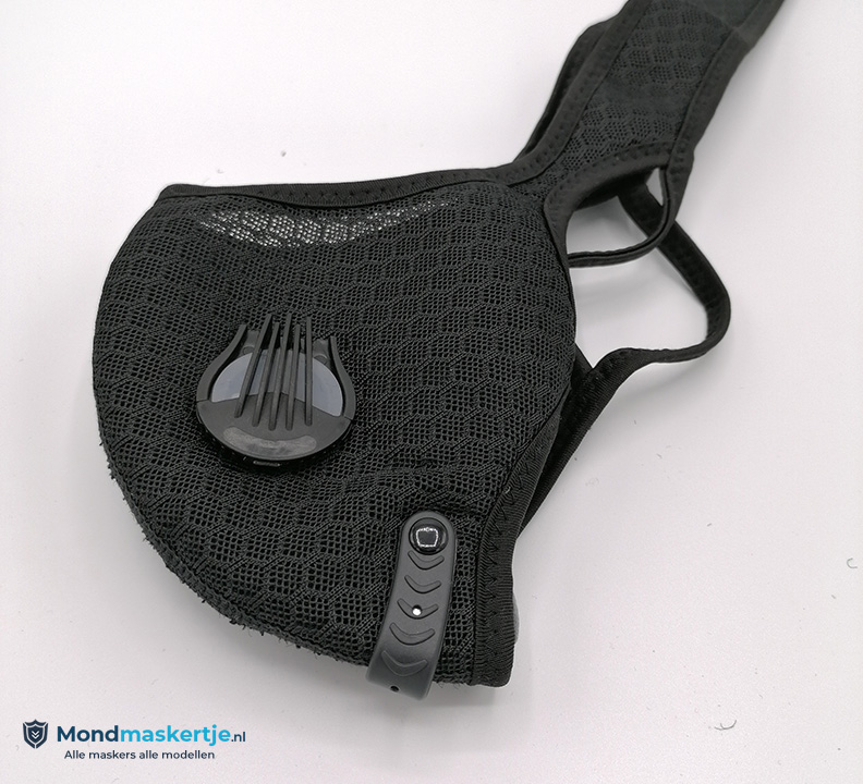 kn95 mondmasker met ventiel en pm2.5 filter