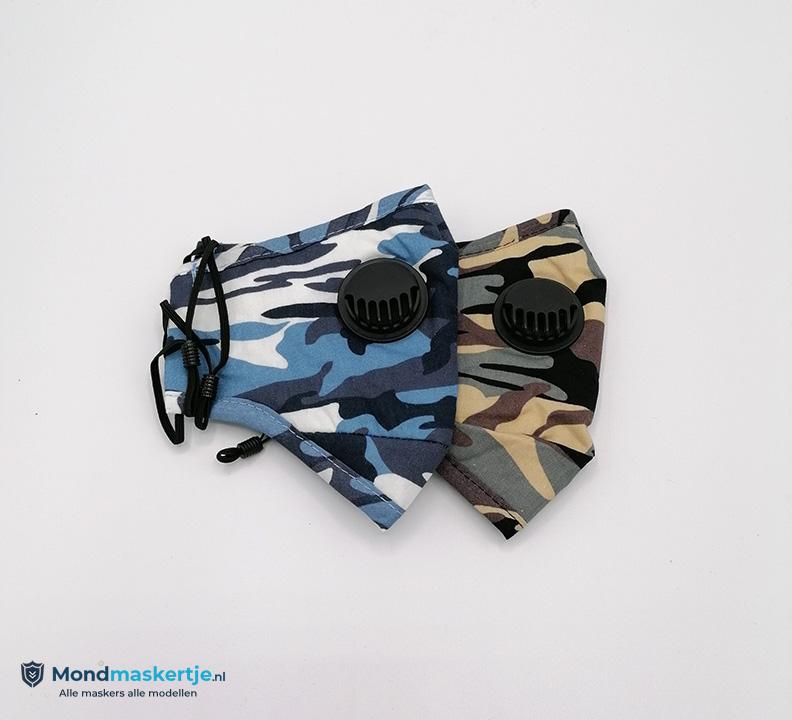 mondmasker blauw katoen filter