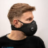 mondmasker zwart sport ventiel filters (3)