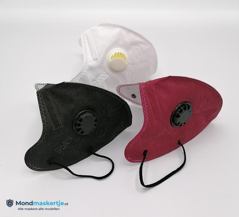 FFP2 KN95 mondmasker kopen zwart wit