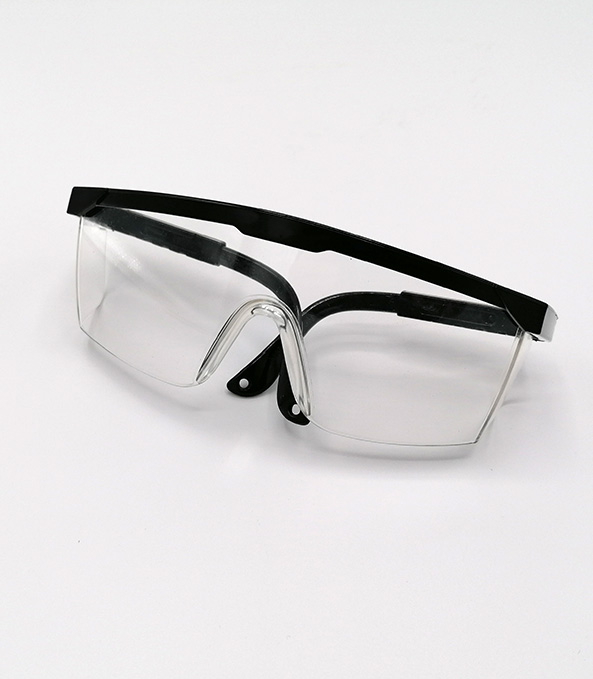 Veiligheidsbril transparant zwart mondmasker (1)