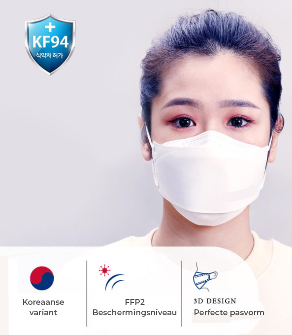 kf95 mondmasker kopen 3d mask korea wit